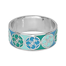 Guess Uptown Girl Rhodium-Plated 4 G Blue Bangle - Product number 1771353