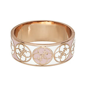 Guess Uptown Girl Rose Gold-Plated 4 G White & Rose Bangle - Product number 1771388