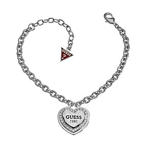 Guess 1981 Collection Rhodium-Plated Heart Bracelet - Product number 1771477