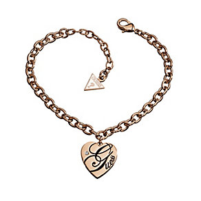 Guess All Mixed Up Rose Gold-Plated Heart Charm Bracelet - Product number 1771574