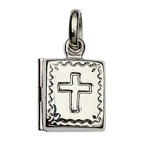 Cailin Sterling Silver Communion Cross Locket Pendant - Product number 1771833