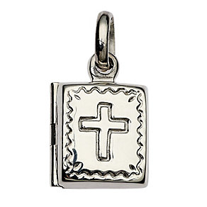 Cailin sterling silver first Communion cross locket - Product number 1772740