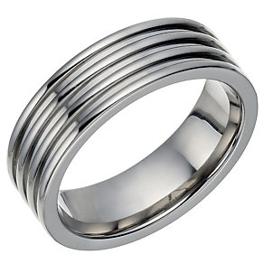 Titanium polished ridge detail ring - Product number 1772856