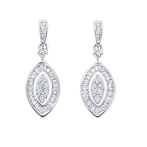 9ct White Gold 0.50 carat diamond earrings - Product number 1773224