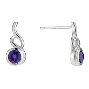 Sterling Silver Amethyst Fancy Stud Earrings - Product number 1773542
