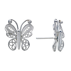 Sterling Silver Butterfly Stud Earrings - Product number 1773712