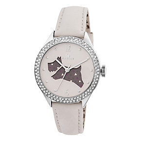 Radley Ladies' Spotted Dog Cream Leather Strap Watch - Product number 1774980