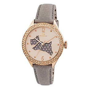 Radley Ladies' Spotted Dog Marsupial Leather Strap Watch - Product number 1774999