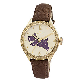 Radley Ladies' Spotted Dog Tan Leather Strap Watch - Product number 1775006