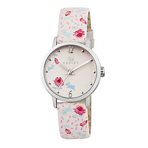 Radley Ladies' Ditsy Flower Print Cream Leather Strap Watch - Product number 1775030