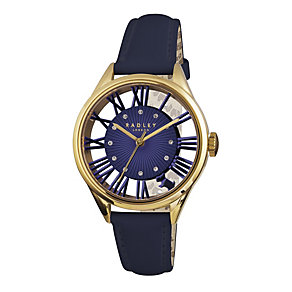 Radley Ladies' Gold-Plated Navy Leather Strap Watch - Product number 1775065