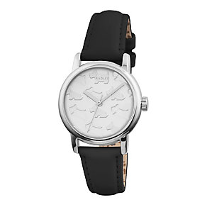 Radley Ladies' Stainless Steel Black Leather Strap Watch - Product number 1775081