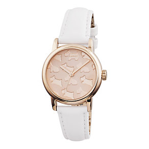 Radley Ladies' Rose Gold-Plated White Leather Strap Watch - Product number 1775103
