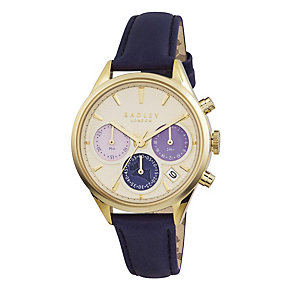 Radley Ladies' Chronograph Navy Leather Strap Watch - Product number 1775111