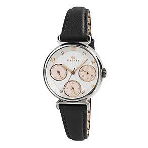 Radley Ladies' Multi Dial Black Leather Strap Watch - Product number 1775138