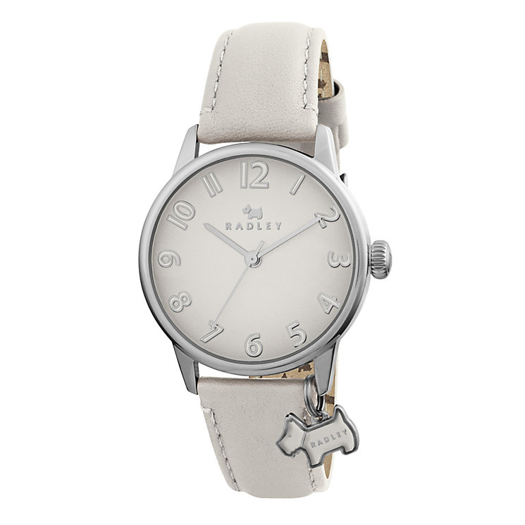 Radley Ladies' Scottie Dog Charm Cream Leather Strap Watch - Product number 1775154