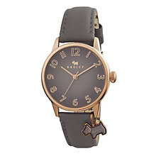 Radley Ladies' Scottie Dog Charm Grey Leather Strap Watch - Product number 1775162