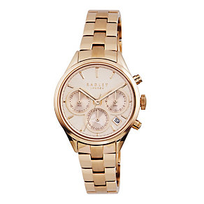 Radley Ladies' Chronograph Rose Gold-Plated Bracelet Watch - Product number 1775227