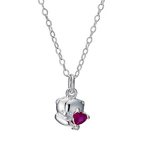 Forever Friends Sterling Silver Synthetic Ruby 14