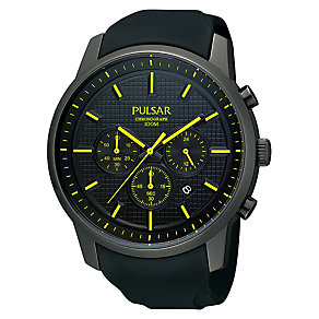 Pulsar Men's Chronograph Watch With Black Silicone Strap - Product number 1776002