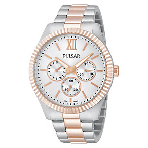 Pulsar Ladies' Rose Gold Tone And Stainless Steel Watch - Product number 1776142