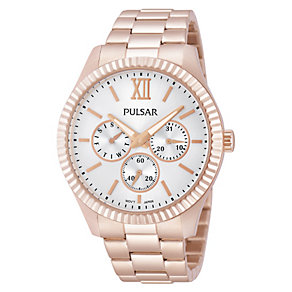 Pulsar Ladies' Rose Gold Tone Dress Watch - Product number 1776150