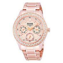 Pulsar Ladies' Rose Gold Dress Watch With Swarovski Elements - Product number 1776169