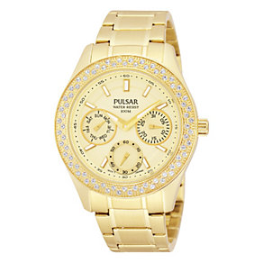 Pulsar Ladies' Gold Tone Watch With Swarovski Elements - Product number 1776177