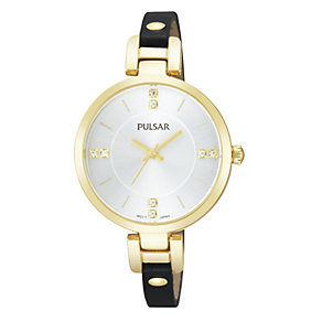 Pulsar Ladies' Gold Tone Dress Watch With Swarovski Elements - Product number 1776185