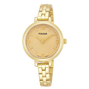 Pulsar Ladies' Gold Tone Bracelet Watch - Product number 1776215
