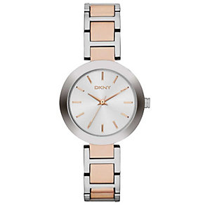 DKNY Stanhope Ladies' Rose Gold-Plated & Steel Watch - Product number 1776266