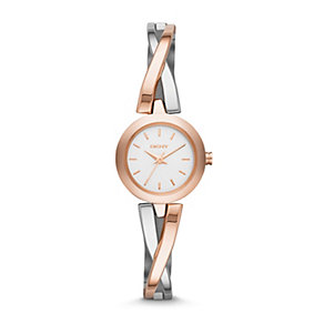DKNY Crosswalk Ladies' Two Colour Semi Bangle Watch - Product number 1776355