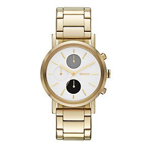 DKNY SoHo Ladies' Multi Dial Gold-Plated Bracelet Watch - Product number 1776371