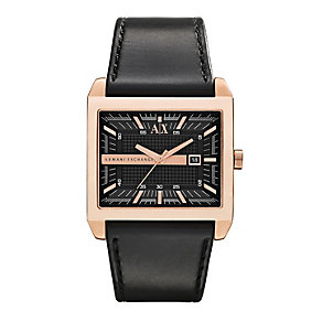 Armani Exchange Smart Men's Black Leather Strap Watch - Product number 1776398