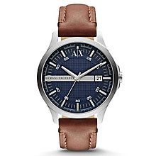 Armani Exchange Men's Brown Leather Strap Watch - Product number 1776436
