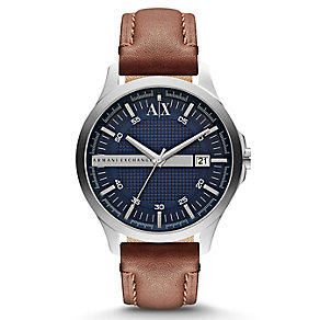 Armani Exchange Men's Smart Brown Leather Strap Watch - Product number 1776436