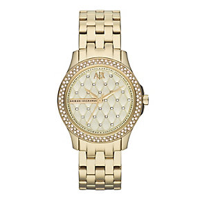 Armani Exchange Ladies' Smart Gold-Plated Bracelet Watch - Product number 1776525