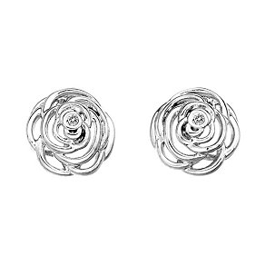 Hot Diamonds Eternal Rose sterling silver rose stud earrings - Product number 1776541