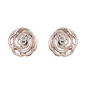 Hot Diamonds Eternal Rose rose gold-plated stud earrings - Product number 1776568