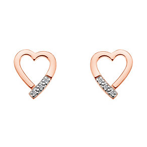 Hot Diamonds Addicted to Love rose gold-plated stud earrings - Product number 1776630