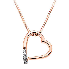 Hot Diamonds Addicted to Love rose gold-plated heart pendant - Product number 1776649