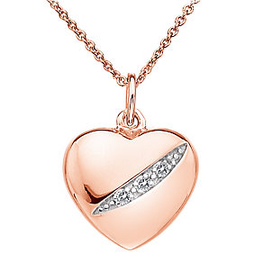 Hot Diamonds Shooting Stars rose gold-plated heart pendant - Product number 1776673