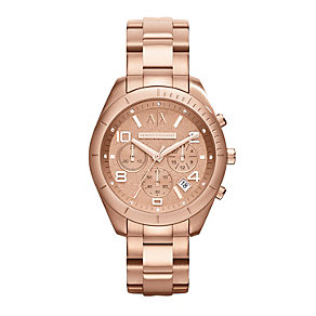 Armani Exchange Active Rose Gold-Plated Bracelet Watch - Product number 1776754
