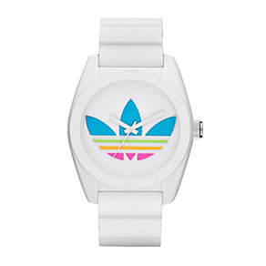 Adidas Originals Santiago Men's White Silicone Strap Watch - Product number 1776789
