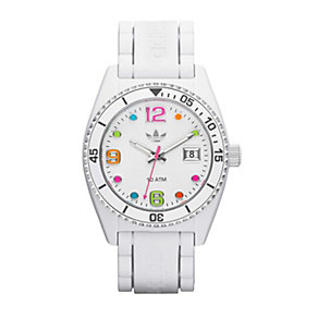 Adidas Originals Brisbane Men's White Silicone Strap Watch - Product number 1776797