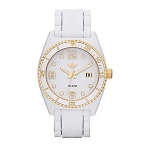 Adidas Originals Brisbane Men's White Silicone Strap Watch - Product number 1776878