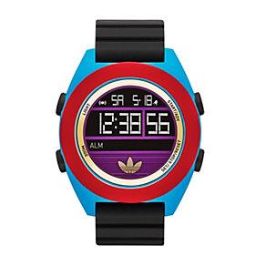 Adidas Santiago XL Digital Men's Black Silicone Strap Watch - Product number 1776894