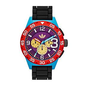 Adidas Originals Newburgh Men's Black Silicone Strap Watch - Product number 1776908