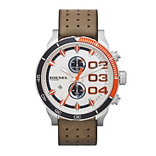 Diesel Franchise 2.0 Men's Tan Leather Strap Watch - Product number 1776924