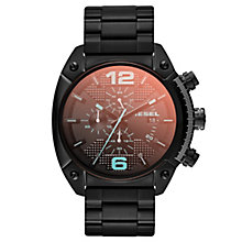 Diesel Mens Overflow Black Iridescent Dial Bracelet Watch - Product number 1776967
